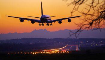 Morgendlicher Anflug des A380 von Singapore Airlines auf Zürich