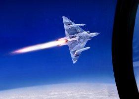 Dogfight mit Raketentriebwerk-Mirage  III S in der Stratosphäre