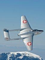 Lebendige Geschichte: DeHavilland DH-100 Mk. 6 Vampire des Fliegermuseums Altenrhein
