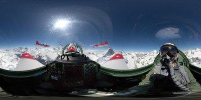 360-Grad-Panorama PC-7 TEAM beim Matterhorn