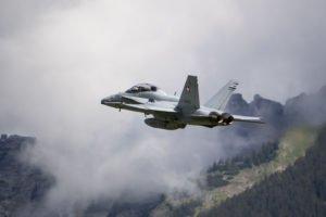 F/A-18D nach TOF von Meiringen LSMM