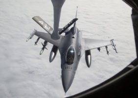 USAF F-16C Fighting Falcon Aerial Refueling