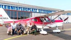 Im Einsatz als Testpiloten auf dem Lightwing AC4